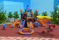CE ISO TUV Customized Holiday Resorts Playground Structure Small Tube Slide Kid Qualitied Outdoor Play Equipment