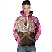 Harajuku 3D Print Shar Pei imperial crown Sweatshirts Fashion Long sleeve with hat Women Hoodies Cartoon Hoody Hooded Pullover
