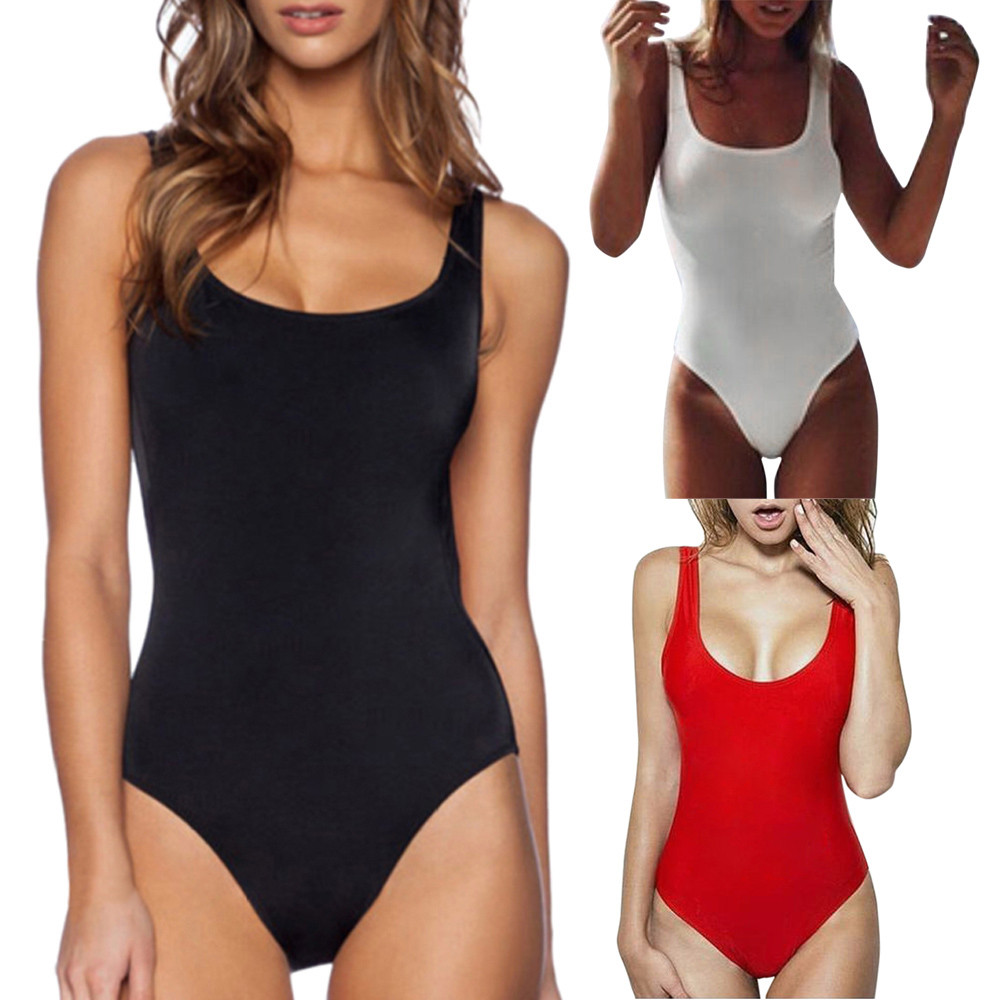 KLV 2019 new summer ladies  polyester sexy solid color triangle one-piece female 3.29