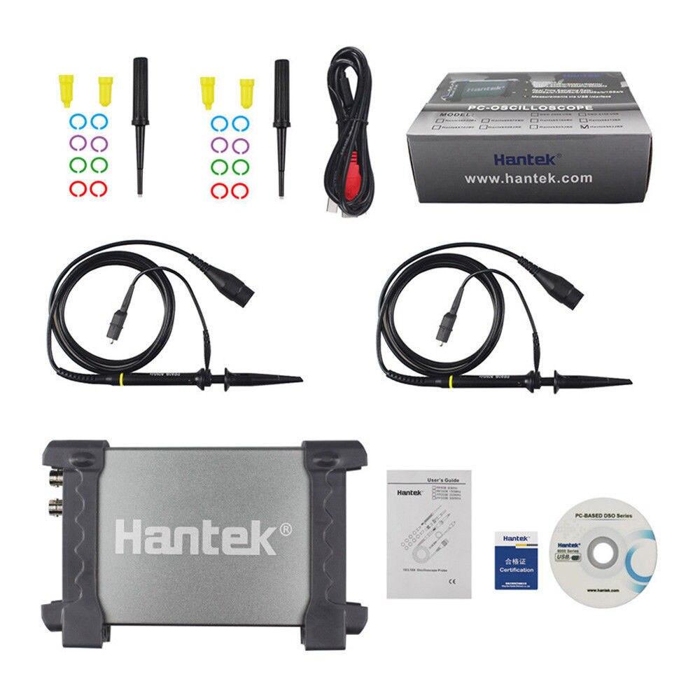 Hantek 6022BE Portable Oscilloscope Automobile Hantek 6022BE PC USB 6022BE Numérique De Stockage 2 Canaux 20 mhz 48MSa/s Multimètre