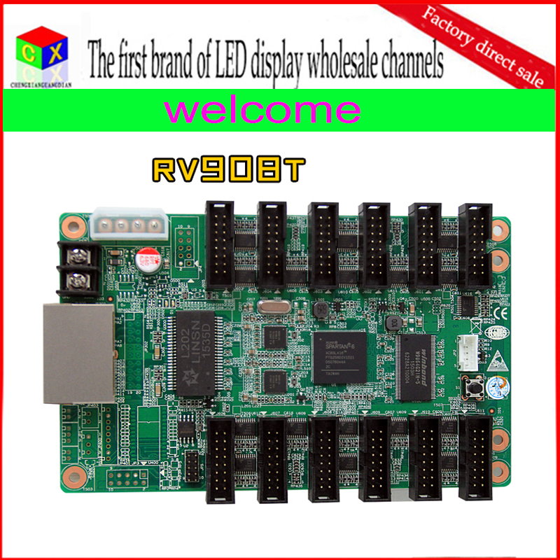 Free shipping wholesale RV908T RGB full color led display synchronous controller / receiver card Linsn