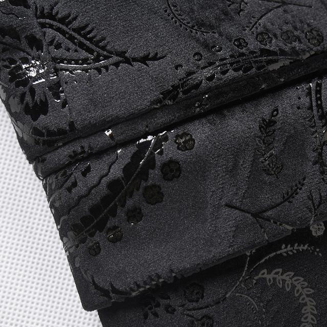 Men Sequin Blazer Slim Fit Mens Floral Blazer Stage Costumes For Singers Stylish Paisley Suit Black Velvet Blazers For Men Q215