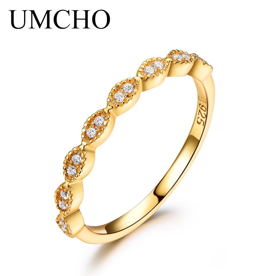 UMCHO Ægte Pure 925 Sterling Sølv Ringe For Kvinder Uendelig - Smykker - Foto 2