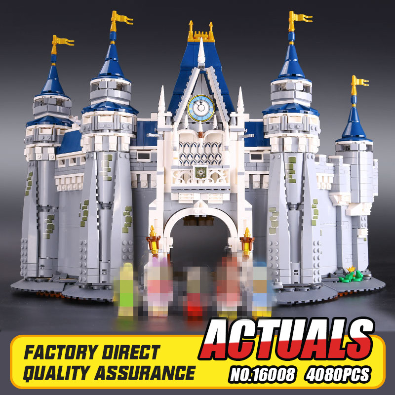 LEPIN 16008 Creator Cinderella Princess Castle City 4080pcs Model Building Block Kid Toy Gift Compatible 71040 new lepin 16008 cinderella princess castle city model building block kid educational toys for children gift compatible 71040