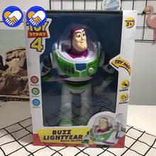 Toy Story 4 Buzz Lightyears Sounding Dolls PVC Action Figure Doll Toys Commemorative Doll Model Hand Birthday Gift for Children(China)