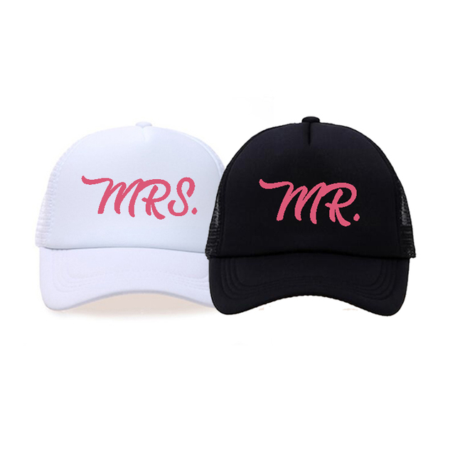 395fcd1774d C Fung New MR.   MRS. SET of 2 trucker hats black white Baseball Cap Low  Profile Curved Bill - Bride and Groom hats caps 2pc. 1 order