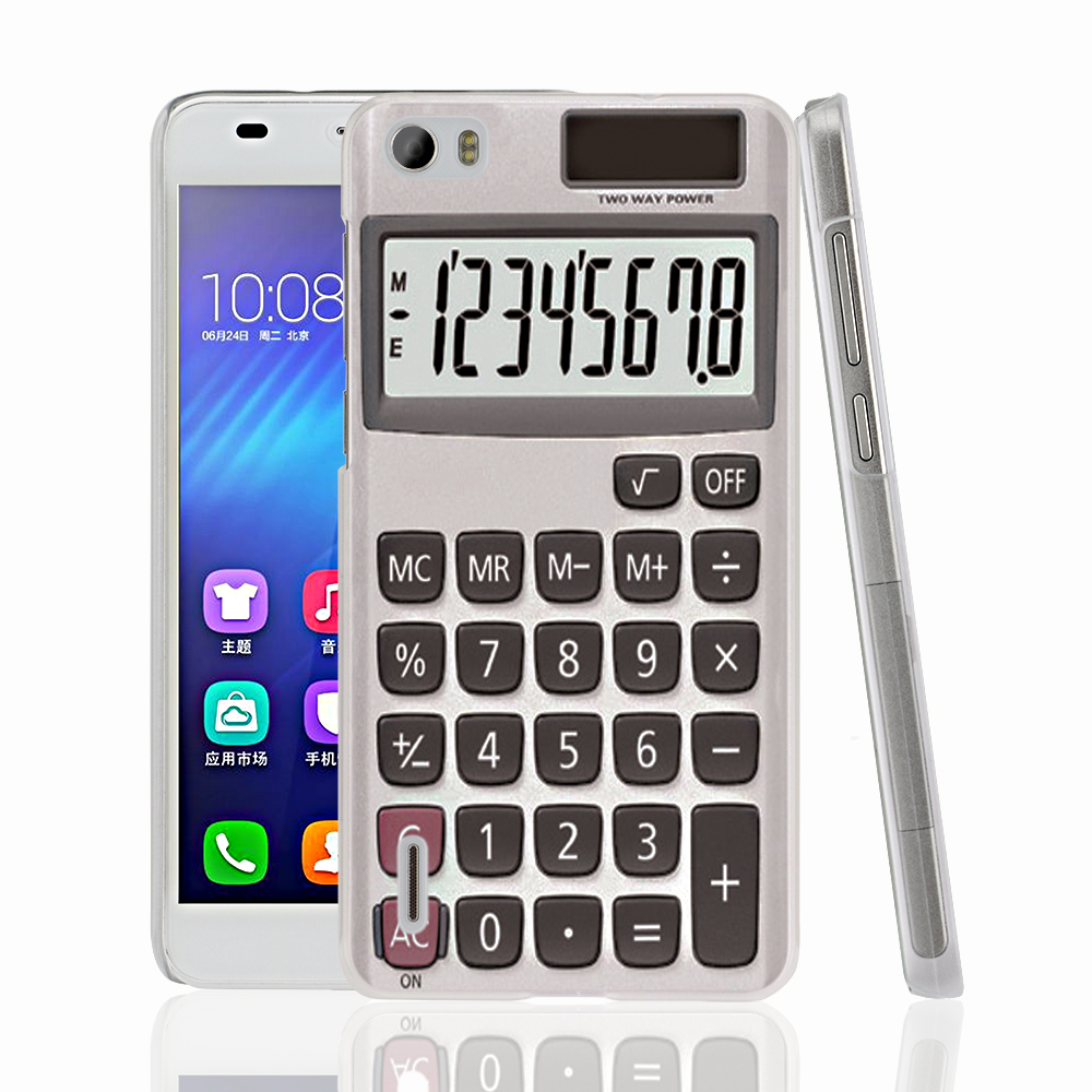 16049 font b Calculator b font cell phone Cover Case for huawei honor 3C 4A 4X