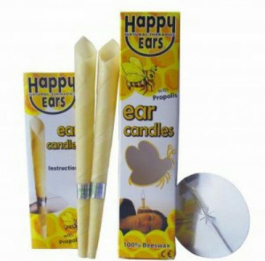 20PCS Ear Candles Coning 100% Beeswax Straight Natural Bee Wax Paraffin For Ear Therapy,  Ear Clean, Relaxation, Headache