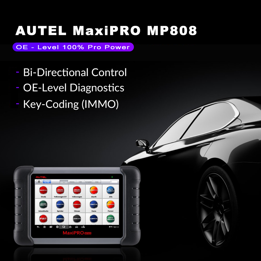 Image 4 - Autel MaxiPRO MP808 Auto Diagnostic Tool Full Systems Auto ECU IMMO Key Diagnostic Scan Tool Upgraded MK808 MX808 DS708-in Engine Analyzer from Automobiles & Motorcycles