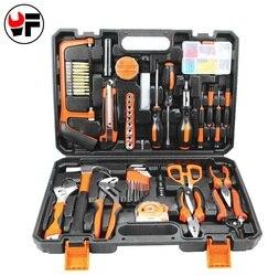 Yofe 102 pçs kit de ferramentas para o reparo do carro ferramenta serra chave de fenda alicate knifetorque chave mão caixa de ferramentas para metalurgia