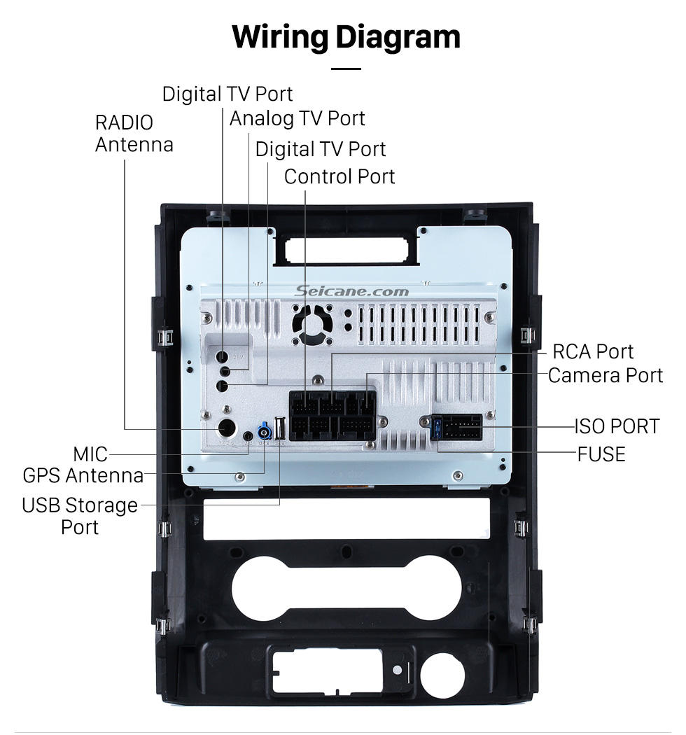 ... Wiring Diagram Seicane S09222 2009-2012 Ford F150 Android 4.4.4 Touch  Screen DVD ...