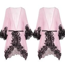 Sexy Erotic Women Lace V Neck Nightdress Lingerie Nightwear Babydoll Night Dress Sleepwear Chiffon Robes