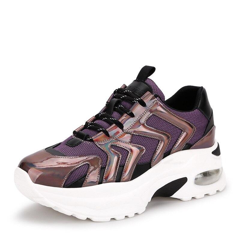Zapatillas Chaussures Confortable Femmes Pourpre Lmcavasun Hombre Appartement De Sport Respirant Sneakers Lumineux argent q4d8Yx5