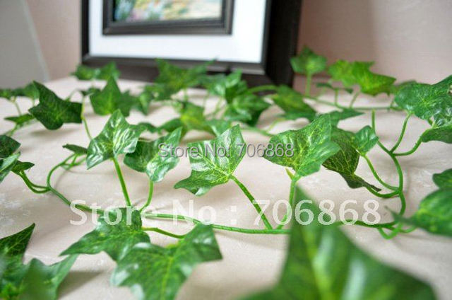 Free shipping artificial hanging boston ivy garland silk flower vine free shipping artificial hanging boston ivy garland silk flower vine wedding home garden party decor mightylinksfo