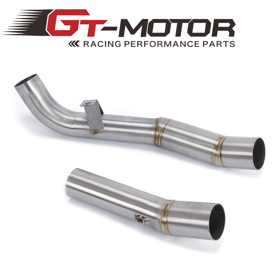 GT Motor - FREE SHIPPING Slip On Mid Pipe CAT Eliminator Race Exhaust For Kawasaki Z1000 2007 2008 2009 aftermarket free shipping motorcycle parts eliminator tidy tail for 2006 2007 2008 fz6 fazer 2007 2008b lack