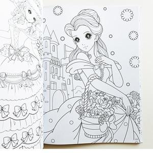 Image 3 - Joli livre de coloriage princesse I (environ 200Princesses), pour enfants/enfants/filles/adultes, livre dactivité, grande taille