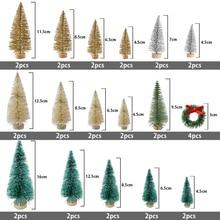 36Pcs Christmas Tree arbol de navidad New Years Small Pine adornos Desktop Mini Decor