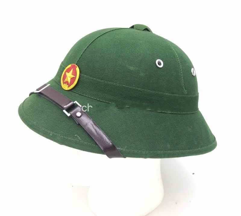 fe8401979b24e US $18.89 10% OFF|VIETNAM VIETNAMESE WAR HAT NVA VIETCONG VC GREEN PITH  HELMET CAP WITH RED STAR World military Store-in Sports Souvenirs from  Sports ...