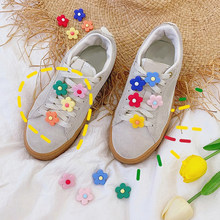 Flowers PVC Shoe Charms,Shoe Buckles Accessories Fit Bands Bracelets Croc JIBZ,Kids Party shoes accessories(China)