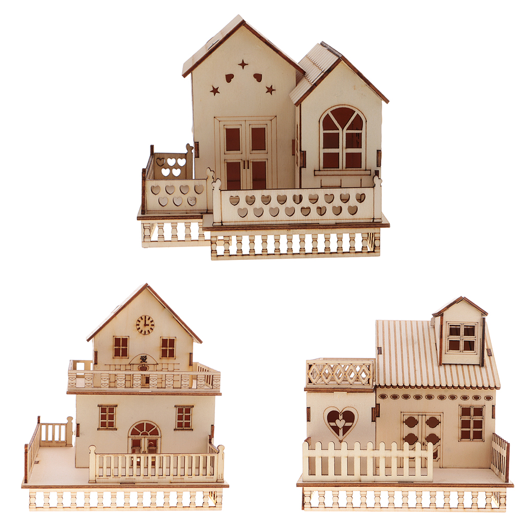 New 1/8 Dollhouse Miniature Wooden 3D Furniture Toys China House Villa Model Construction with LED Lights Home Decor Kids Toy