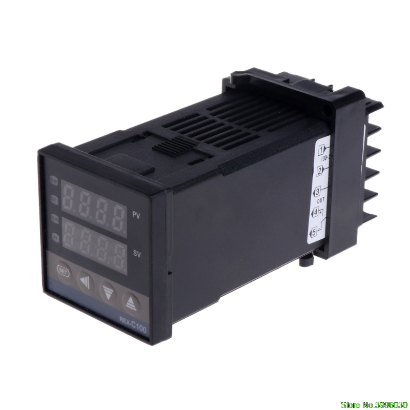 цена на PID Digital Temperature Controller REX-C100 0 To 400degree K Type Input SSR Output