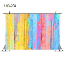 Laeacco Colorful Painted Wooden Texture Wood Boards Planks Photography Backdrops Vinyl Customs Backgrounds For Photo Studio