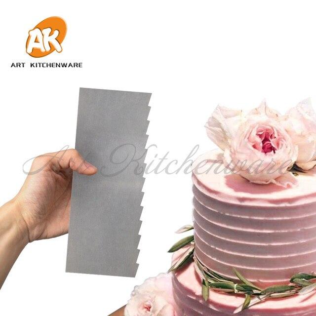 Dente di sega Crema di Burro Liscia Decorazioni Della Torta Del Fondente Smoothe