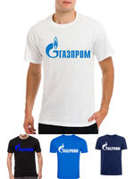 GAZPROM logo Vladimir Putin Russia Russian mens Latin Cyrylic t shirt Hip Hop Funny Tee,Summer O Neck Tee,2019 Hot Tees