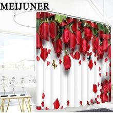 Meijuner 3d ванная комната с красными розами водонепроницаемая