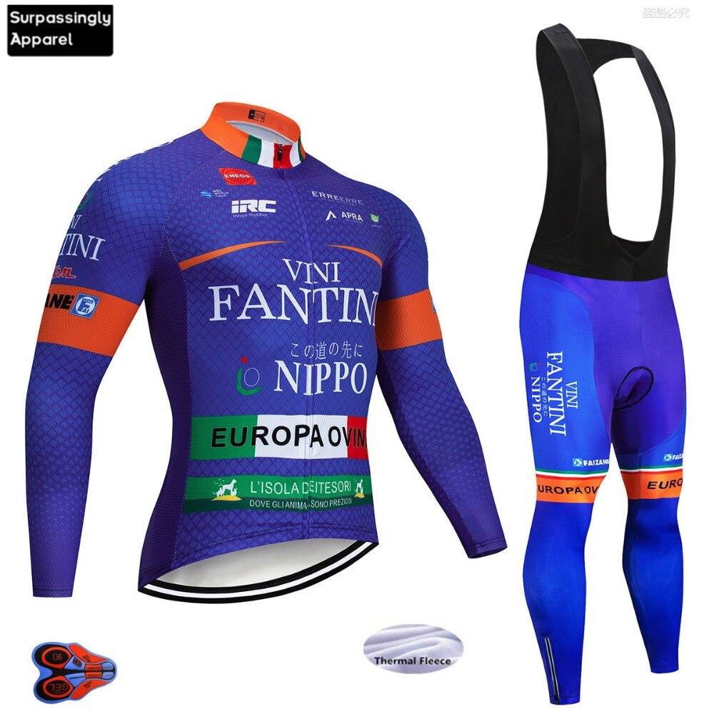 bf6205cddcb7 2019 Pro equipo MTB bicicleta Ropa VINI Ciclismo Jersey conjunto térmico  polar Invierno Ciclismo desgaste Maillot Ropa Ciclismo Invierno Hombre