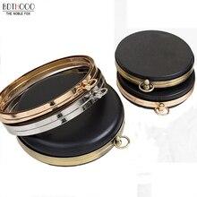 BDTHOOO 18cm Metal Clasps Dinner Round Box Purses Frame Handles for DIY Handbags Kiss Twisted Lock Buckle Tone Bag Accessories