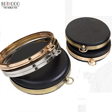 BDTHOOO 18cm Metal Clasps Dinner Round Box Purses Frame Handles for DIY Handbags Kiss Twisted Lock Buckle Tone Bag Accessories(China)