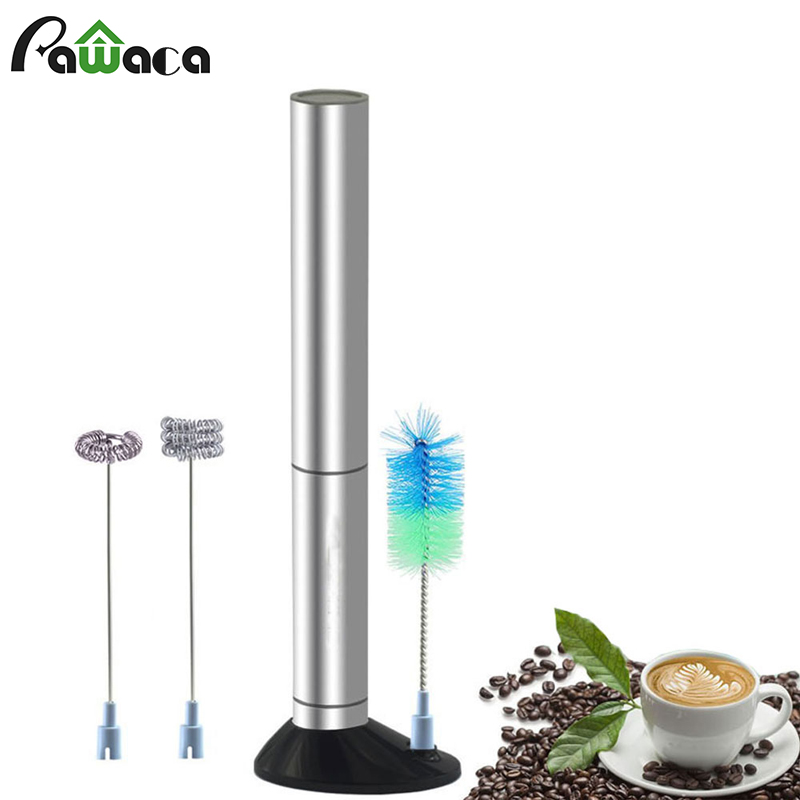 Single Triple Spring Whisk Head Handheld Electric Milk Frother Foam Maker for Coffee Blender Egg Beaters Drink Mixer with Stand