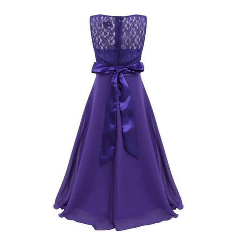 Summer Girls Dress Chiffon Sleeveless Infant Long Dress O Neck Girl Wedding Dresses Lace Kids Party Clothes Children Clothing (10)