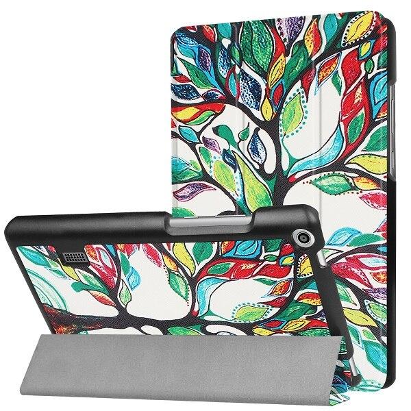 Folio housse de protection peau pour Huawei MediaPad T3 7.0 BG2-W09 Smart Stand de couverture Funda Tablet pour Honor Lecture Pad 2 7.0 + Film + Stylo
