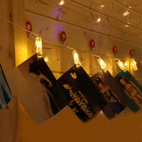 2 5m Novelty Battery Operated LED Clip String Lights Christmas Photo Wall Lamp Fairy Wedding Room