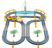 2017 детские развивающие музыки Электрический свет вагон поезда модель игрушка автомобиль для детей подарочные детские игрушки автомобиля -...