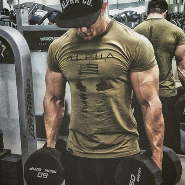 Neue Herren Marke turnhallen t hemd Fitness Bodybuilding Crossfit Dünne Baumwolle Shirts Männer Kurzarm workout männlichen Casual Tees Tops
