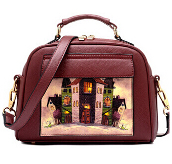 Летящие птицы! Женская кожаная сумка известных брендов, женские сумки-мессенджеры, женская сумка-мешок, высокое качество, женская сумка LS8235fb - Цвет: small red  handbag