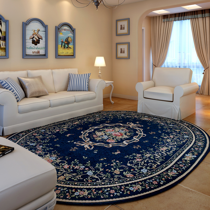 American Pastoral Oval Rugs And Carpets For Home Living Room ...