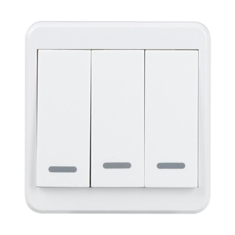 QIACHIP Wireless 2.4G WiFi Smart UK Plug Switch 3 Gang Light Wall Switch APP Remote Control Share Control Manual Control Panel цены