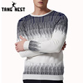 TANGNEST 2017 Fashion Printing O-Neck Pullover Men Spring Casual Sweater Men Comfortable Pull Homme Plus Big Size 5XL MZL708