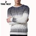 Tangnest 2017 impresión de la manera del o-cuello pullover hombres primavera casual sweater hombres homme tirón cómodo más el tamaño grande 5xl mzl708