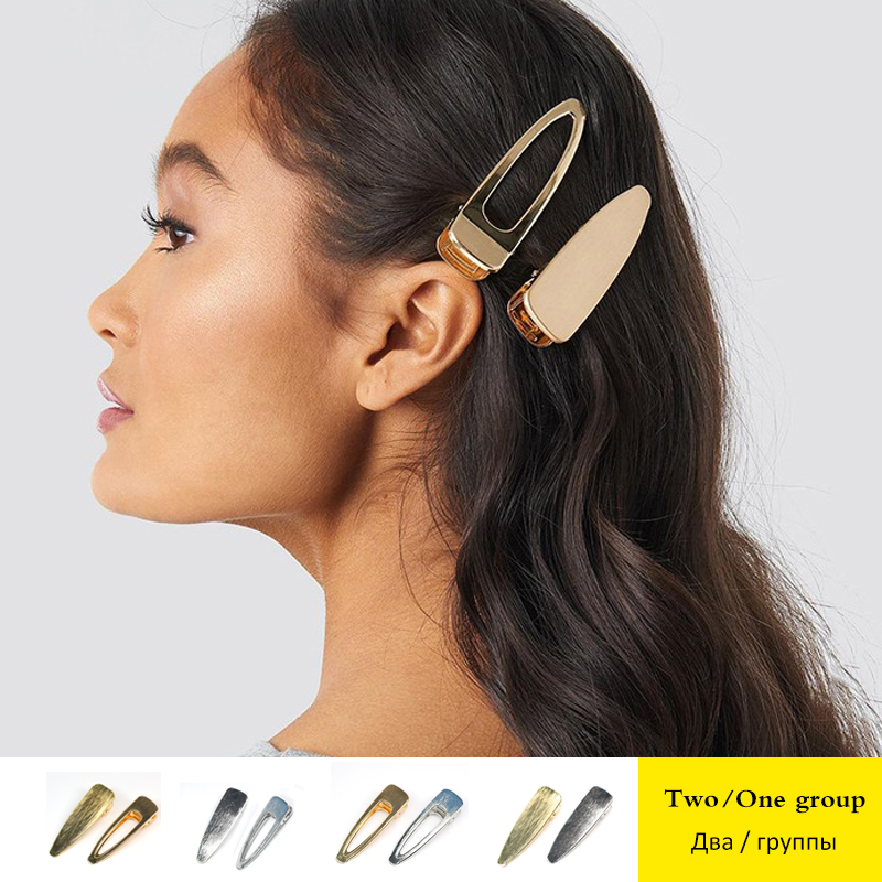 CHARAS brand  Gold Silver Color Hairpin women's Headwear Jewelry Accessories large Two/group Female Hair