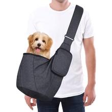 Petacc portador de mascotas mochila para perro y gato de viaje al aire libre bolsa de transporte para cochecito con correa de hombro ajustable para perros pequeños