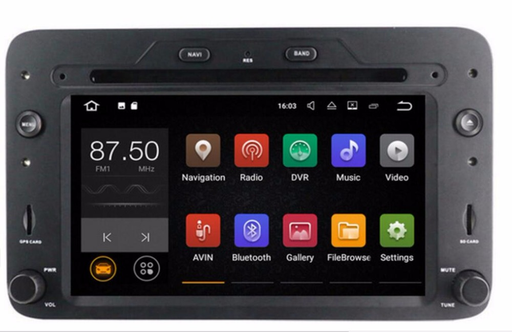 Navirider Android 8.0 magnétophone octa Core 4 GB RAM 32 GB rom avec écran IPS pour les unités de tête Toyota Alfa Romeo Spider HU
