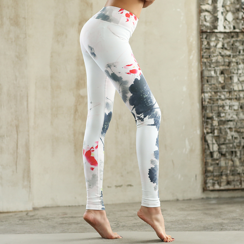 LYNSKEY Women Yoga Pant Sports Tights Printed Sports Pants Fitness Compression Leggings Quick Dry Jogging Trousers Running Pants