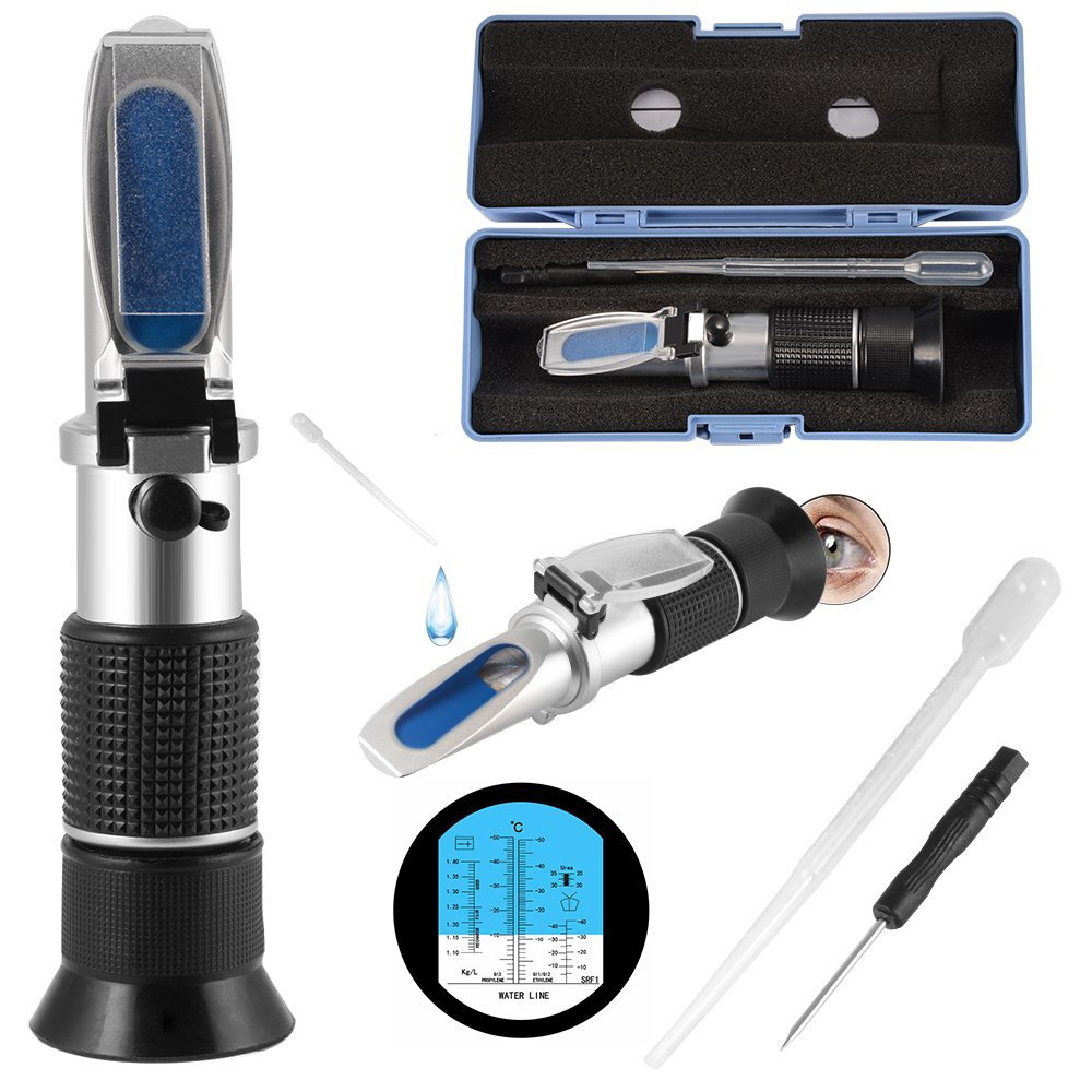 Portable Antifreeze Refractometer Urea Concentration for Glycol Engine Coolant Acid Battery Tester Car Fluid Condition AD028 цена