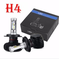 1 Set H4 HB2 9003 S1 CSP LED Headlight Slim Conversion Kit 50W 8000LM Fanless All