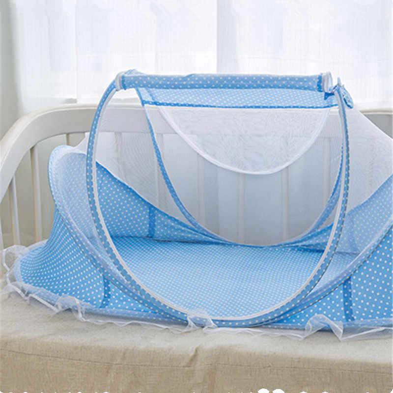 Детская кроватка бесплатная установка складная детская противомоскитная сетка украшение в детскую комнату Новорожденный Хлопок переносная кроватка для сна детская кроватка для Babykamer